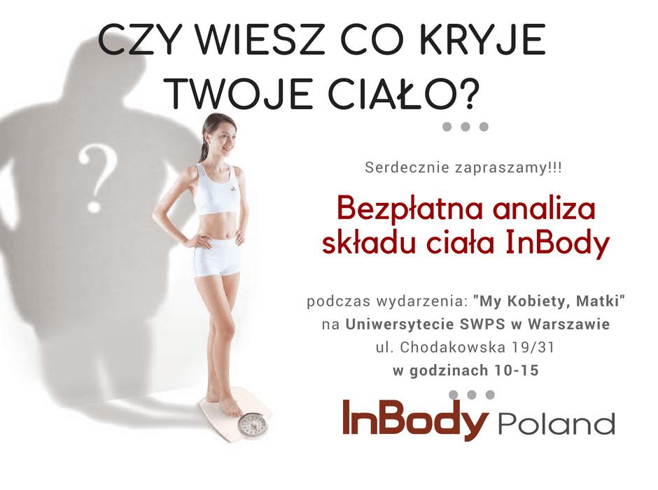 Bezpłatny test InBody w Warszawie 24.05.2018r.