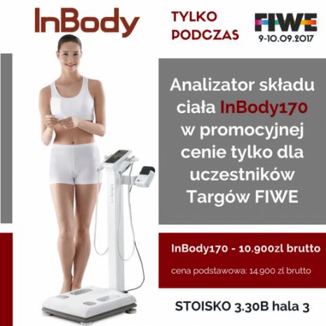 Wyjątkowa promocja InBody170 taniej o 4000zł tylko podczas FIWE