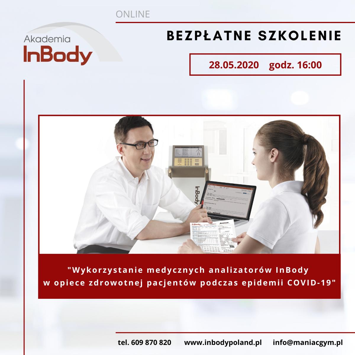 Bezpłatne szkolenie InBody- COVID19